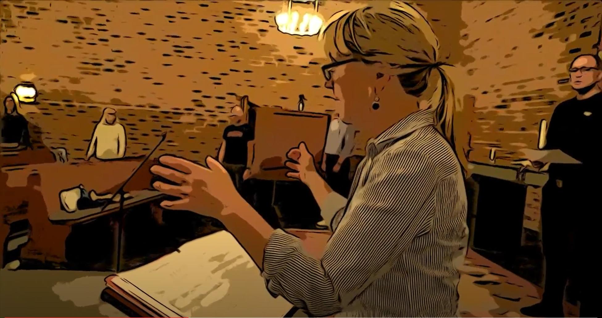 Animerad film, körrepetition i Corona-tid med sceniska kören Resonans